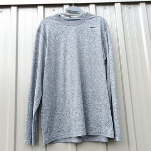 Nike Dri-FIT Men's Grey Long Sleeve Top
